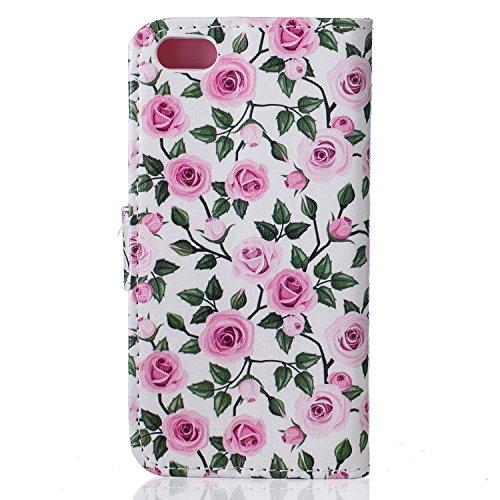 Voguecase® Pour Apple iPhone 6 Plus/6S Plus 5,5 Coque, Étui en cuir synthétique chic avec fonction support pratique pour iPhone 6 Plus/6S Plus 5,5 (papillon rouge 03)de Gratuit stylet l'écran aléatoir Pink Rose 02