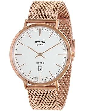 Boccia Herren-Armbanduhr Analog Quarz Edelstahl beschichtet 3589-09