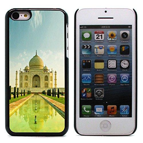 Graphic4You Hong Kong Postkarte Ansichtskarte Design Harte Hülle Case Tasche Schutzhülle für Apple iPhone 5C Taj Mahal