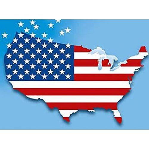ALLE 51 US-Bundesstaaten-Flaggen im Set! + USA Flagge