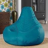 Pouf poire designer inclinable de jeux - pouf poire pour l'intérieur et l'extérieur (résistant à l'eau) par Bean Bag Bazaar (Sarcelle Bleu)