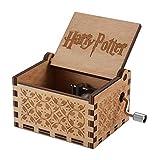 wishing Carillon in Stile Retro in Legno con manovella Harry Potter Music Box Carillon Musique Personalizable Music Box Scatola Decorativa in Legno Regali di Natale