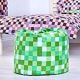 Ready Steady Bed Green Pixels Design Children\'s Filled Bean Bag
