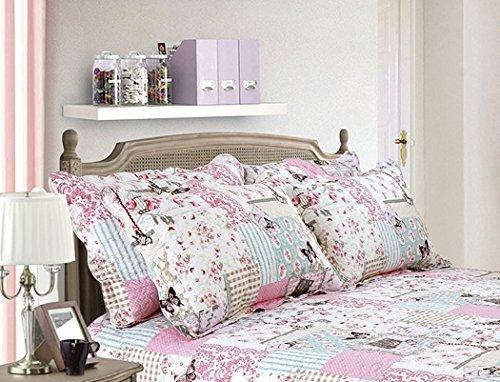 """Patchwork Papillon Tampon Floral Housse de coussin qui convient Couvre-lit 19 """"x29"""" - 48x73cm"""