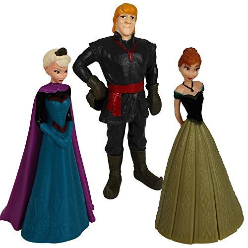 Kinder Disney Figuren (Frozen Figuren 3er Set - Königin Elsa - Anna - Kristoff - Kinder Spielfiguren Disney -)