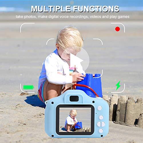 OWSOO 1080P Cámara para Niños con Pantalla de 2 Pulgadas,  Grabación de Video,  Toma de Fotos,  Soporta Máximo de Tarjeta TF de 32GB (No Incluida),  Niños,  Rosado