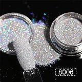 2G/Box Holografische Glitter Glitzer Puder Shining Zucker Glitzer Staub Puder Nail Art Dekoration