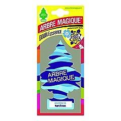 Idea Regalo - Arbre Magique Mono, Deodorante Auto, Fragranza Jasmine & Narcissus, Profumazione Prolungata fino a 7 Settimane