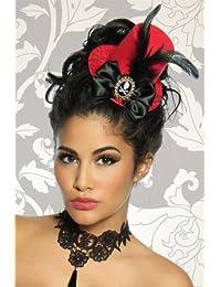 9e3b190a8dc39 Bibi - Mini chapeau Burlesque Femme Coloris Rouge