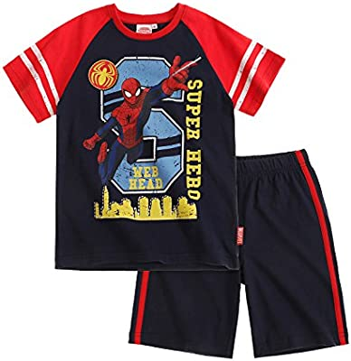 Spiderman Chicos Camiseta y pantalón corto 2016 Collection - Azul marino