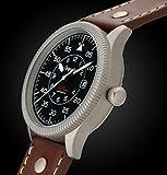 Gigandet Automatik Herren-Armbanduhr Red Baron I Fliegeruhr Uhr Datum Analog Lederarmband Braun Schwarz G8-002 - 5