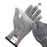 Macabolo 1 Paare Schnitt beständige Arbeitshandschuhe, Level 5 Schutz Sicherheit Oyster Fisch Fleisch Schneiden Handschuhe für Küche Metzger Outdoor Arbeit schützende Hände