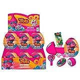 DreamWorks Trolls - 18 huevos sorpresa con juguete, adhesivos y caramelos