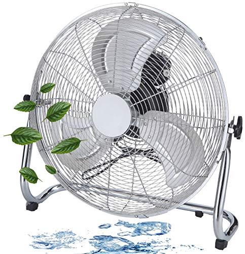 Bodenventilator | Ø46 cm | 102 m³/min Luftdurchsatz | 1.350 U./min | 3 Geschwindigkeitsstufen | Power Windmaschine | Luftkühler | Standlüfter | Raumkühler | Standventilator | Ventilator