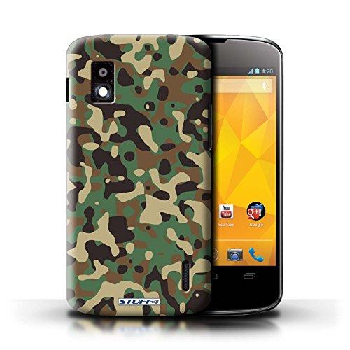 Kobalt® Imprimé Etui / Coque pour LG Nexus 4/E960 / Blanc 4 conception / Série Armée/Camouflage Vert 3