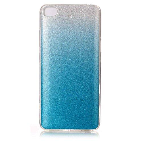 Coque MI 5s,Xiaomi MI 5s Glitter Bumper Case,Ekakashop Ultra Slim-fit Lumineux Argent Bling Sparkling Coque de Protection Crystal Clair Souple Gel Housse Protecteur Back Cover Defender en TPU Silicone Bleu Ciel