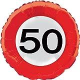 Folat 45cm Traffic Schild Geburtstag Party Folienballon–50. Geburtstag