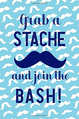 in The Bash!: Blank Lined Notebook ( Mustache )  (Blue) ()