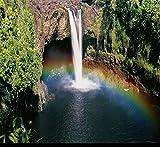 Tapeten Wandbild Wandaufkleberpapel De Parede Angepasst 3D Pvc Bodenbelag Wasserdicht Rainbow Falls Landschaft Tapete 3D Bodenfliesen Selbstklebend, 200 * 140 Cm