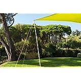 Kit de fixation pour voile d'ombrage toile solaire - Hauteur 220 cm et 25 mm de diamètre