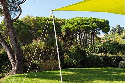 Befestigungs-Kit für Sonnensegel - Höhe 220 cm x 25 mm Durchmesser