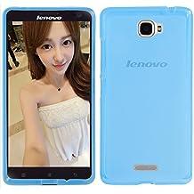Prevoa ® 丨 Lenovo S856 Funda - Transparent Silicona TPU Protictive Carcasa Funda Case para Lenovo S856 - 5.5 Pulgada Smartphone - Azul