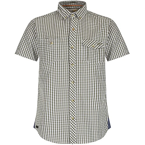 2 Button-up-shirt (Regatta Mens Randall Short Sleeve Coolweave Cotton Button Up Shirt)
