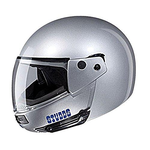 Studds Ninja Pastel Plain Flip-Up Helmet Silver Grey-XL