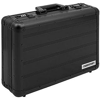 anndora Aktenkoffer Aluminium Attaché Koffer Schwarz Zahlenschloss abschließbar