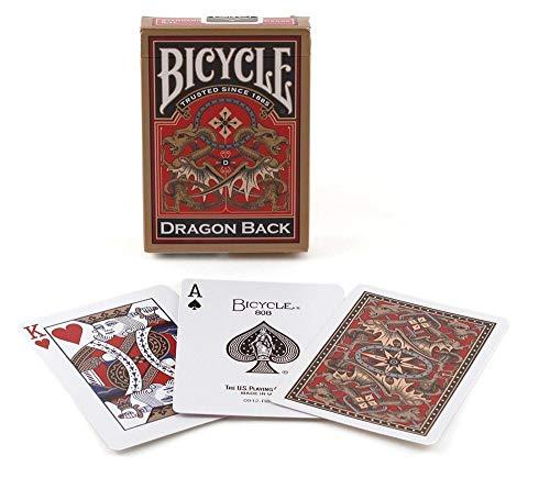 Bicycle 1025004 - mazzo di carte da gioco e da poker gold dragon [importato dalla germania]