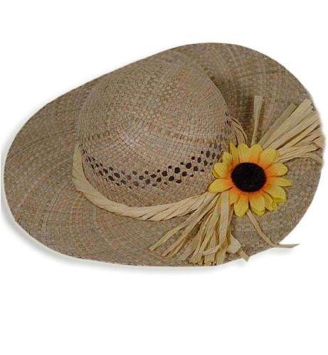 Sonnenblumen Hut (Damen Stroh Hut mit Sonnenblume Strohhut)