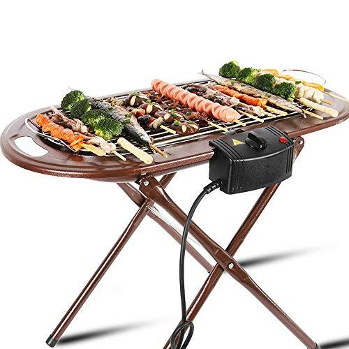 Griglia a infrarossi senza fumo, griglia interna/esterna, riscaldamento griglia elettrica da tavolo, antiaderente griglia per barbecue facile da pulire, staffa rimovibile, per festa/casa yzpdskj