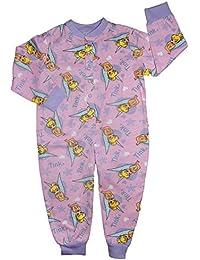 Tinkerbell Coton Léger tout-en-un Grenouillère Pyjama 12-18M jusqu'à 4-5 Y