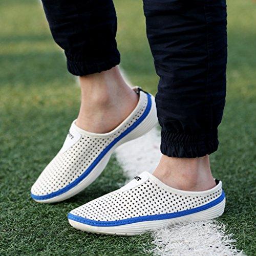 YOUJIA Unisex Sommer Casual Atmungsaktiv Clogs Strand Geschlossene Zehe Hausschuhe Pantoffeln Slippers #1 Weiß