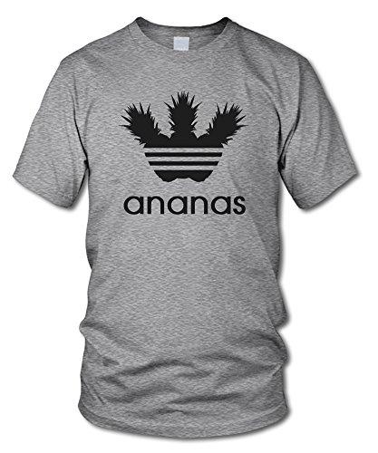 Gamer-fan (Ananas - Fun T-Shirt - Grau-Meliert (Schwarz) - Größe XL)