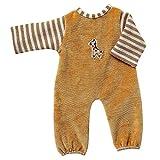 Unbekannt Schwenk Puppenkleidung, Nicki Overall mit Ringelstreifen, 20-22 cm Puppen