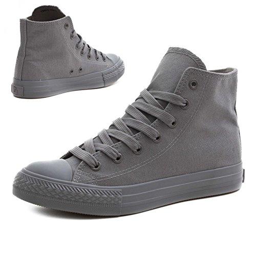 Classiche Scarpe Da Donna Unisex Basse Sneaker Basse Alte Sneaker Tutto Grigio Alto