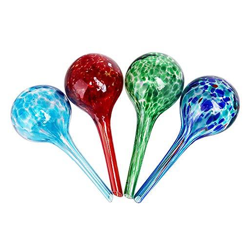 Sungmor Distributeur d'eau pour plantes petites et grandes ampoules, arrosage automatique des globes en verre, meilleures solutions d'arrosage pour plantes en pot Lot de 4 pièces de 6 x 15 cm.
