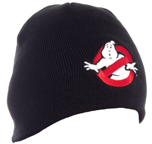 rs Who Ya Gonna Call schwarz Logo Beanie (Ghostbuster Ghost Kostüm)