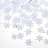 Sumind Schneeflocke Konfetti für Weihnachten Winter Party Dekoration Handwerk Projekte, 60 g/ 2,1 Unzen