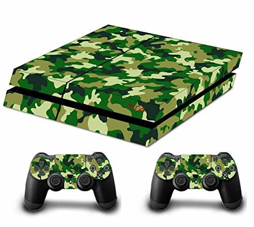 Sticker FACEPLATES für Konsole PS4x 1und das Controller x 2 grün Jungle camouflage ()