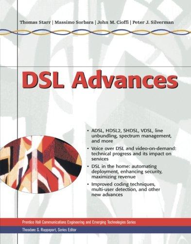 Preisvergleich Produktbild DSL Advances (Prentice Hall Communications Engineering and Emerging Technologies Series.)