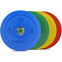 Bodymax Olympic Rubber Bumper Plates - Coloured Premium Fully Rubber Encased