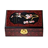 Chinesischen Stil aus Holz Schmuckschatulle mit Schloss Black Plum A
