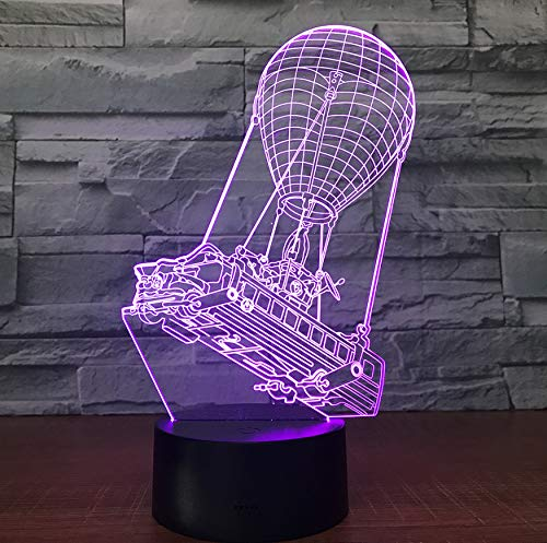 Nachtlicht 3D Heißluftballon Lampe 7 Farben Led Für Kinder Touch Usb Tisch Baby Schlafen Acryl Kinderzimmer Wohnkultur