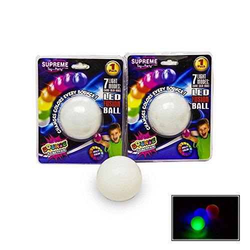Preisvergleich Produktbild Magischer LED Rainbow-Ball Hüpfball, wechselt die Farbe bei jedem Aufprall