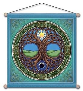 38,1x 38,1cm Arbre de Vie de mandala Méditation bannière
