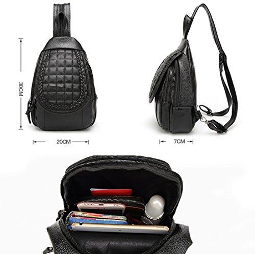 1e830b0e0982e ... Estwell PU-Leder Schultertasche Brusttasch Bodybag Klein Reise Rucksack  Handtasche für Damen und Herren StilB ...