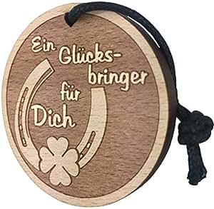 Schlüsselanhänger Glücksbringer aus Holz sehr gute Qualität Geschenk Liebe Glück Gesundheit vom ORIGINAL endlosschenken