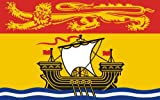 8,4 x 5,4 cm Autoaufkleber Fahne von New Brunswick Kanada Canada Sticker Aufkleber fürs Auto Motorrad